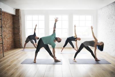 Yoga Practice Exercise Class Concept